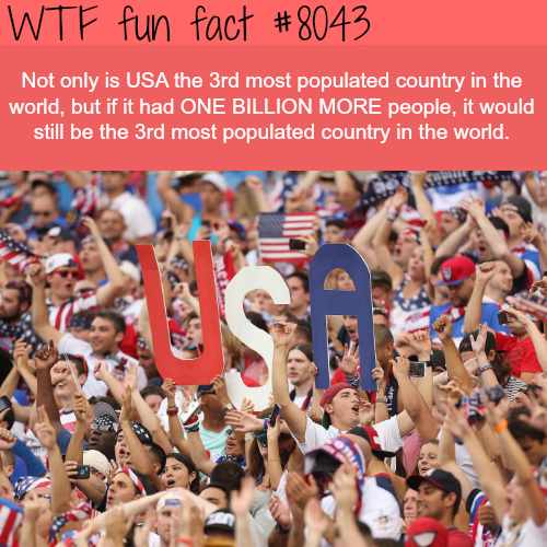 the U.S. population - WTF fun fact