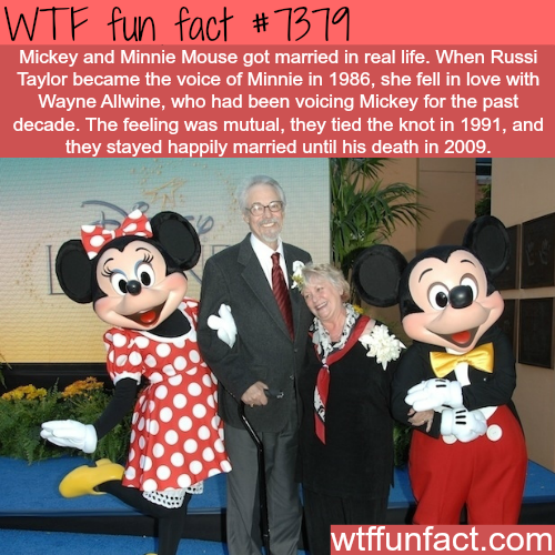 The voice actors of Mickey and Minnie Mouse are married in real life - WTF fun facts
