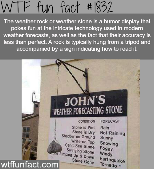 The weather rock -WTF fun facts