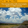 the weight of an average cloud wtf fun facts
