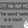 the word verb is a noun