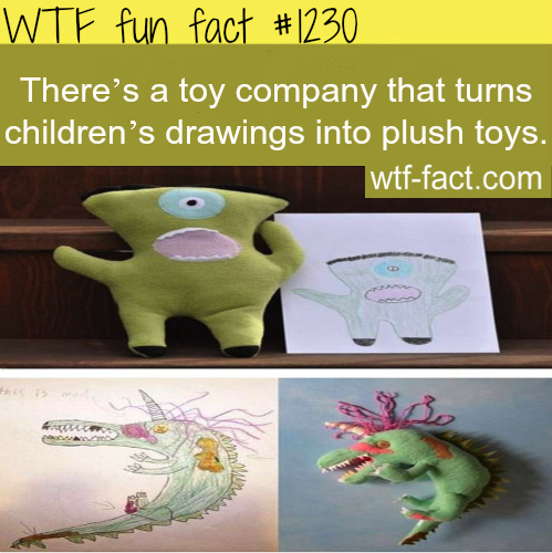 There's a toy company that turns children's drawings into plush toys.