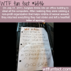thieves return what they stole wtf fun fact