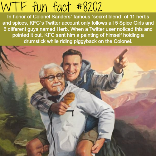 This guy got a painting of himself from KFC - WTF fun fact