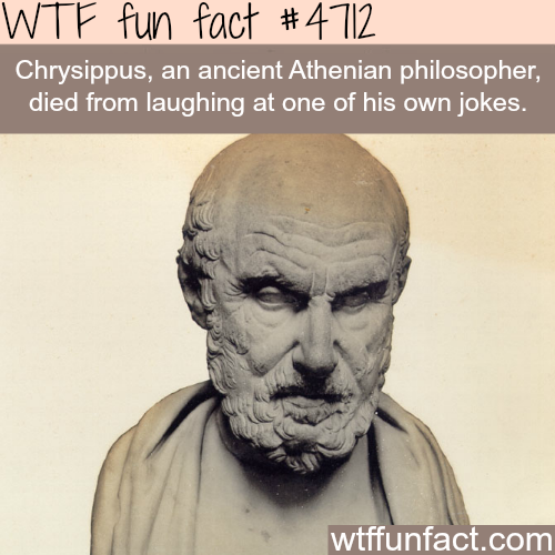 This man died from laughing at his own jokes - WTF fun facts