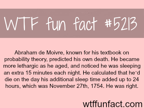 This man predicted the date of his death - WTF fun facts
