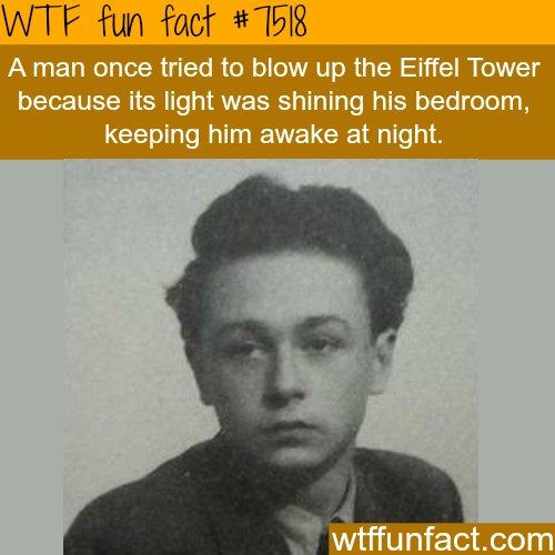 This man tried to blow up the Eiffel Tower - WTF FUN FACTS