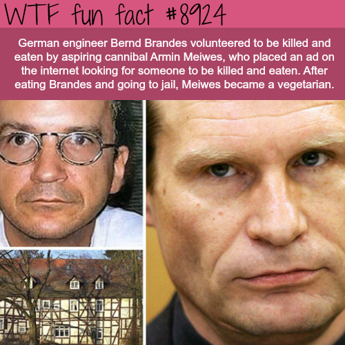 This man volunteered to be eaten alive - WTF fun facts