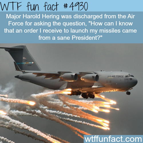 This man was discharged from the air force for asking this - WTF fun facts