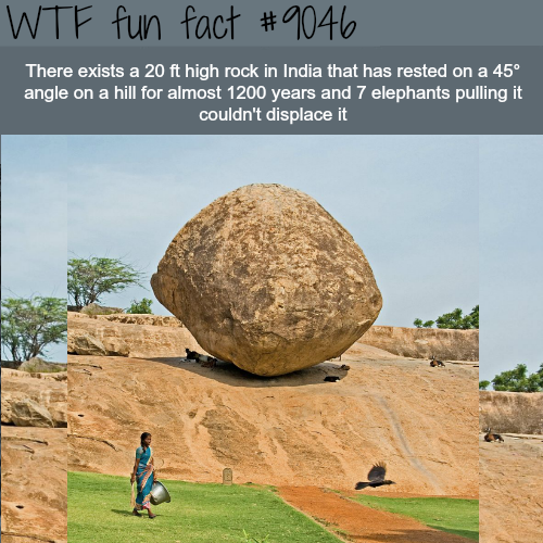 This mysteriousrock can't be moved - WTF fun facts