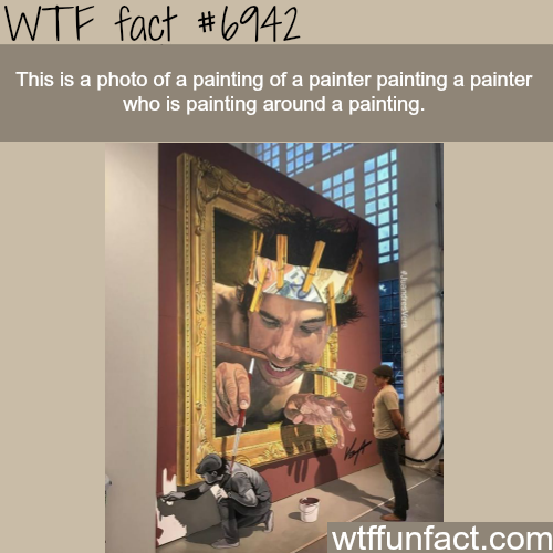 This painting will make your head hurt - WTF fun fact