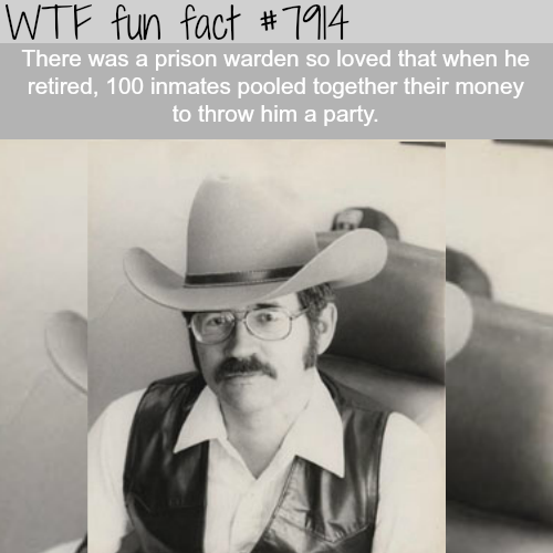 This prison warden is so loved by inmates… - WTF fun facts