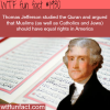 thomas jefferson studied the quran