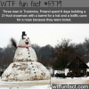 three men in poland built a 31 foot snow man wtf
