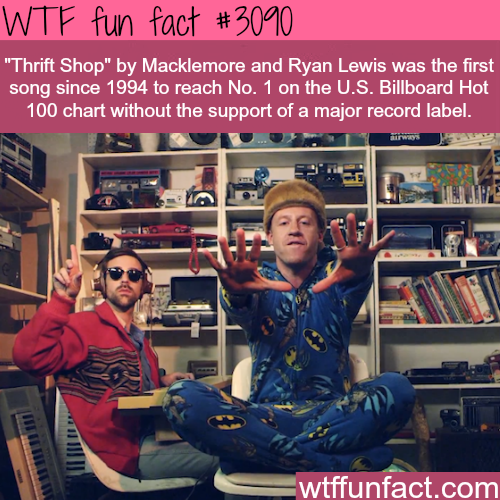 """""""Thrift Shop"""" by Macklemore an Ryan Lewis -WTF fun facts"""