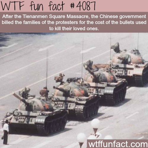 Tienanmen Square Massacre facts - WTF fun facts