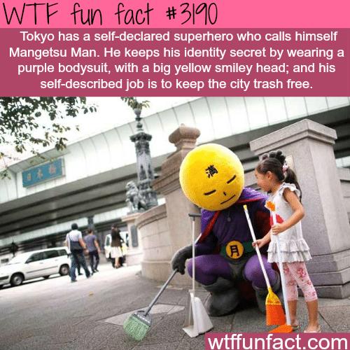 Tokyo's superhero: Mangestu Man -WTF fun facts