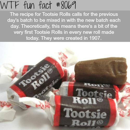 Tootsie Rolls facts - WTF fun fact