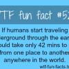 traveling underground