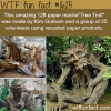 tree troll amazing art made of recycled paper