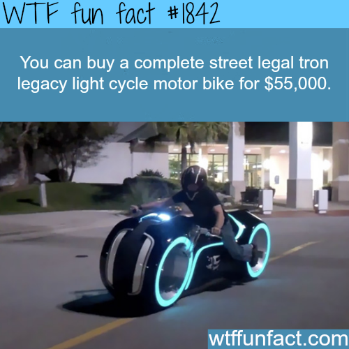 Street legal tron legacy light cycle - WTF fun facts