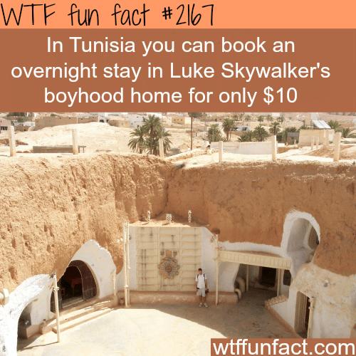 Tunisia's Luke Skywalker's boyhood home -WTF fun facts