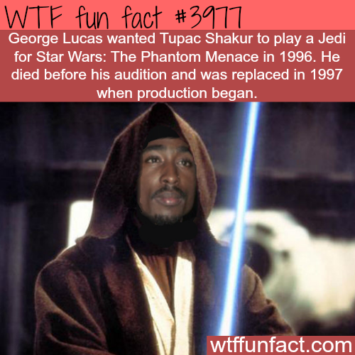 Tupac Shakur as a Jedi in Star Wars - WTF fun facts
