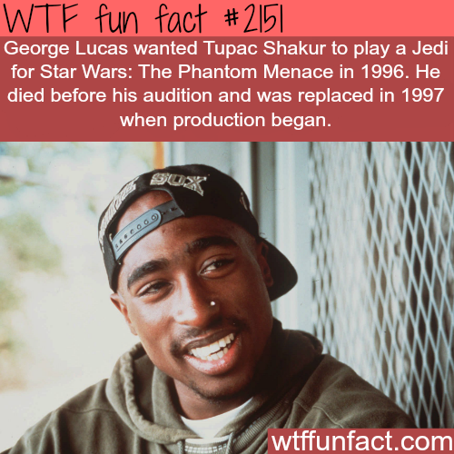 Tupac Shakur Jedi for Star Wars - WTF fun facts