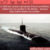 two nuclear submarines collided with each other