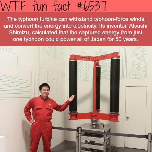 Typhoon turbine - WTF fun facts