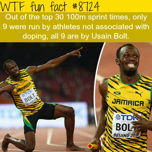 Usain Bolt - WTF fun facts