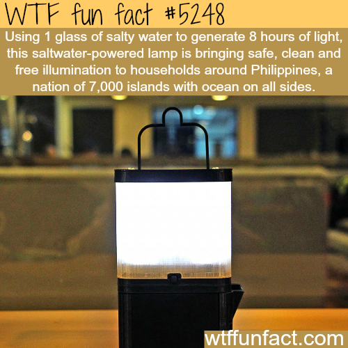 Using salt water to generate light - WTF fun facts