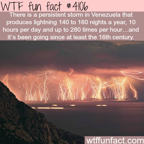 Venezuela's everlasting storm  - WTF fun facts