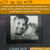 video game developer hides a proposal into a game