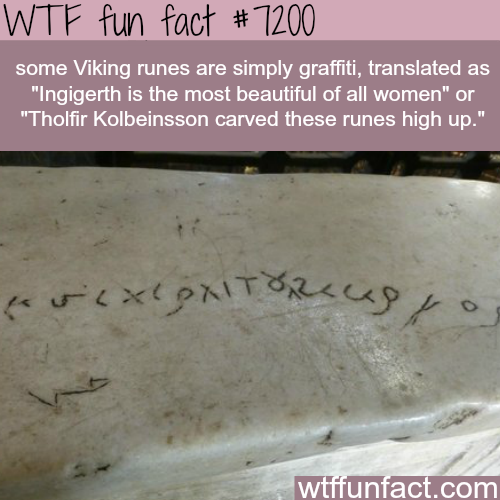Viking graffiti - WTF Fun Fact