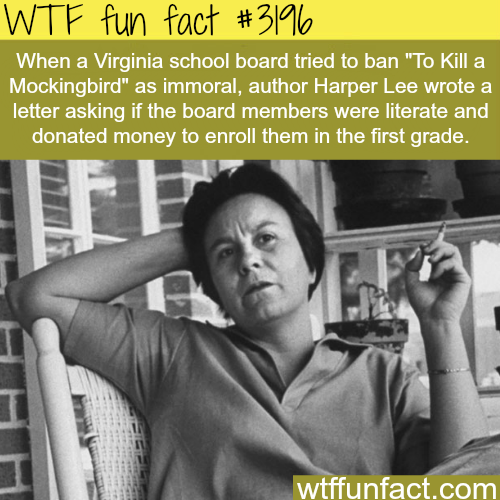 "Virginia school Banning ""To kill a mockingbird"" -  WTF fun facts"