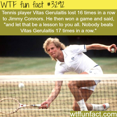 Vitas Gerulaitis and Jimmy Connors -WTF fun facts