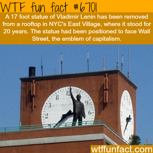 Vladimir Lenin statue in NYC's east village - WTF fun fact