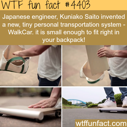 WalkCar is a mini Segway that can fit into your bag -   WTF fun facts