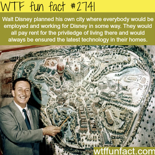 Walt Disney Ideas for Disney Land City - WTF fun facts