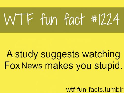 (source) STUDY: Watching FOX News Makes You Stupid