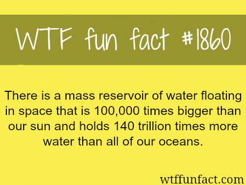 Water in space -WTF fun facts