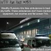 wealthy russians hire fake ambulances