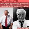 wendy s founder worked for kfc founder