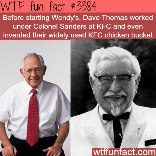 Wendy's founder worked for KFC founder -  WTF fun facts