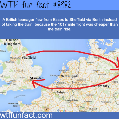 When flying is cheaper than taking the train  - WTF fun fact
