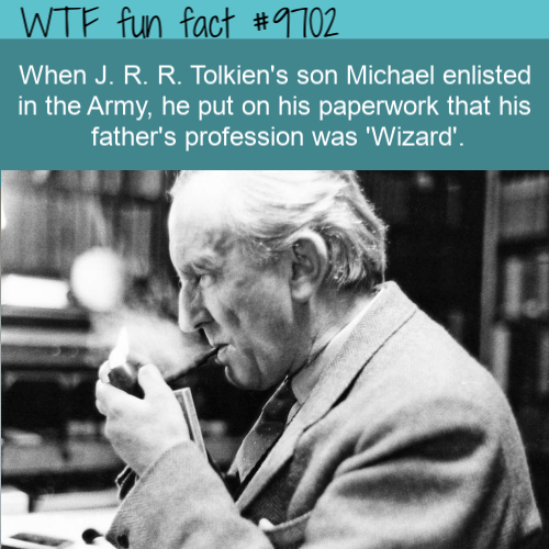 When J. R. R. Tolkien's son Michael enlisted in the Army