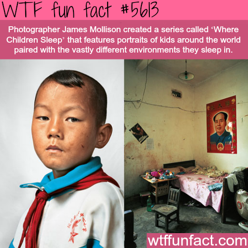 """Where Children Sleep"" by James Mollison - WTF fun fact"