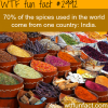 where do most spices come from