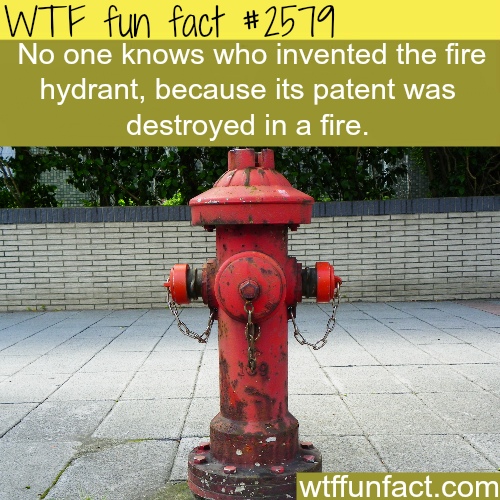Who is the inventor of the fire hydrant - WTF fun facts